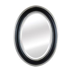 French Classic Oval Wood Mirror