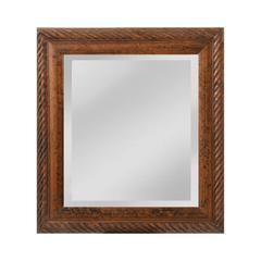 Mirror Masters British Barley Twist Carved Wood Frame
