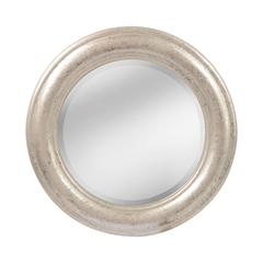 French Classic Round Wood Mirror