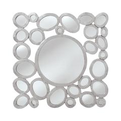 Mirror Masters Free Formed Oval and Round Mirror With a Central Large Viewing Mirror