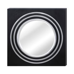 Mirror Masters Square Frame With Circles And Round Mirror in The Center