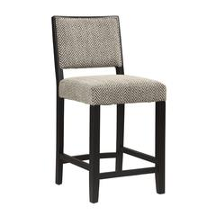 "Linon Zoe Counter Stool - Bridgeport, 18""W X 22.13""D X 38.5""H, Black"