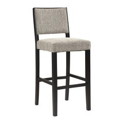 "Zoe Bar Stool - Bridgeport, 18""W X 22.13""D X 44.8""H, Black"
