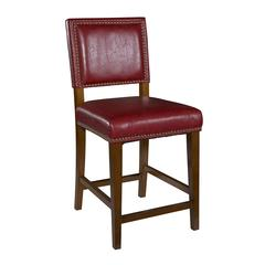 "Brook Red Counter Stool, 19""W X 22""D X 40.5""H, Brown"