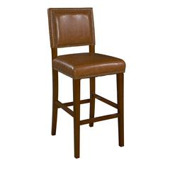 "BROOK BAR STOOL30 CARAMEL, 19""W X 22""D X 45.5""H, Brown"