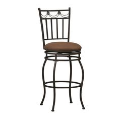"Linon Swag Counter Stool 24, 18.11""W X 19.88""D X 40.67""H, Powder Coating"