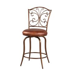 "Linon Butterfly Back Counter Stool, 16.54""W X 18.11""D X 38.11""H, Antique Gold"