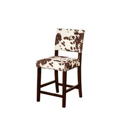 "Linon Corey Counter Stool Udder Madness, 19""W X 22.25""D X 38.75""H, Manhattan Stain"