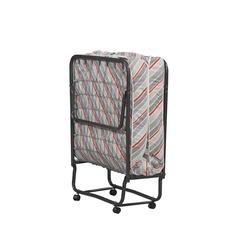 "Linon TORINO UPS FOLDING BED, 31.5""W X 74.8""D X 15""H, Multi Colored Ticking"