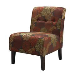 "COCO ACCENT CHAIR - HARVEST, 22.5""W X 30""D X 33""H, Dark Walnut"