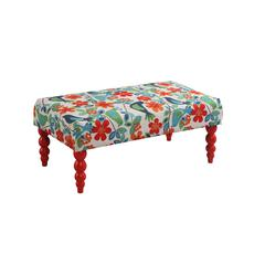 "Linon Claire Gazebo Bench, 40""W X 20""D X 17""H, Red"