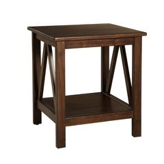 "Linon TITIAN END TABLE ANTIQUE, 20""W X 17.72""D X 22.01""H, Antique Tobacco"