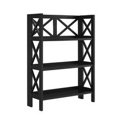 "Linon Three Shelf Folding Bookcase, 27.56""W X 11.02""D X 37.8""H, Black"