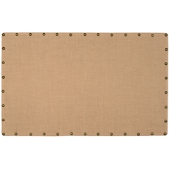 "Burlap Nailhead Corkboard - Large, 34""W X 55""D X 1.25""H, Brown, Bronze"