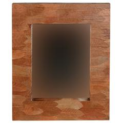 "Mahogany Leaf Rectangle Mirror, 25.5""W X 2.75""D X 29.5""H, Brown"