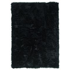 "Linon Faux Sheepskin Black  20"" X 30"""