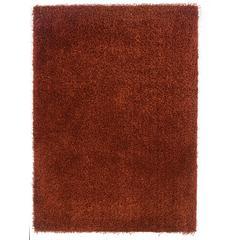 """Linon Confetti Collection, 96""""W X 120""""D X 2""""H, Copper"""