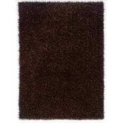 "Confetti Collection, 96""W X 120""D X 2""H, Brown"