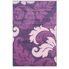 Linon Corfu Collection Purple & Baby Pink 1.10 X 2.10