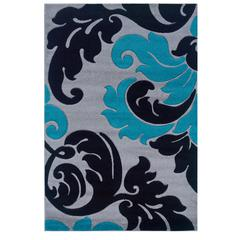 Corfu Collection Grey & Turquoise 1.10 X 2.10