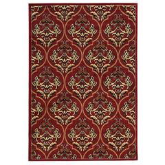 "Linon Elegance England Red, 96""W X 120""D X .25""H"