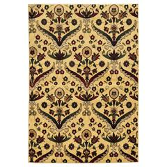 "Linon Elegance Chateau Red, 24""W X 36""D X .25""H, Cream"
