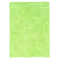 Faux Sheepskin Green & Green 3 X 5