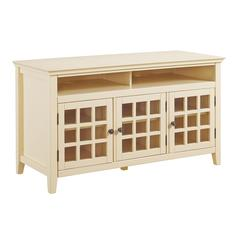 Leslie Pale Yellow Media Cabinet