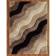"Links Wave 1'10"" X 2'10"", Brown"
