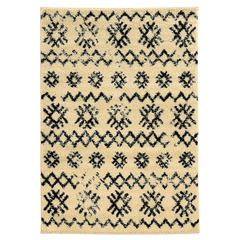 Linon Moroccan  Mekenes Ivory/Black 3X5