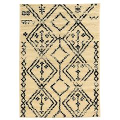 Moroccan Fes Ivory/Black 3X5