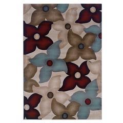 """Linon Milan Collection, 96""""W X 123""""D X 0.5""""H, Garnet"""
