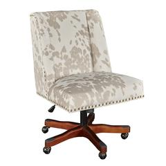 Dobby Linen Cow Print Office Chair