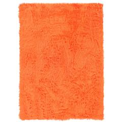 "Faux Sheepskin Orange & Orange 20"" X 30"""