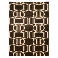 Linon Roma Bridle Choc/Beige 2X3, Chocolate