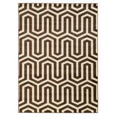 Linon Roma Zigzag Ivory/Choc 2X3