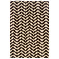 Linon Saloniki Chevron Brown 5' X 8'