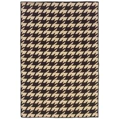 Saloniki Houndstooth Brown 5X8