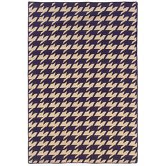 Saloniki Houndstooth Purp 5X8, Purple