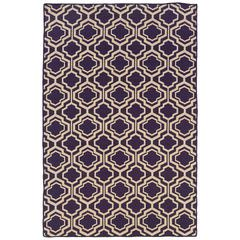 Saloniki Db Quatrefoil Pur 5X8, Purple