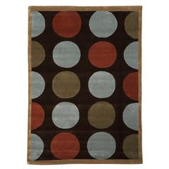 Linon Trio Collection Brown & Pale Blue 8 X 10