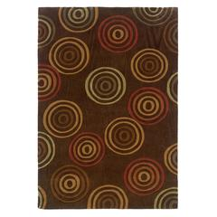 Linon Trio Collection Chocolate & Terracotta 5 X 7