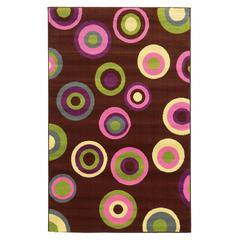 "Tween Collection Circles Brown 4'4"" X 6'"