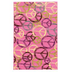 "Tween Collection Peace Pink 4'4"" X 6'"