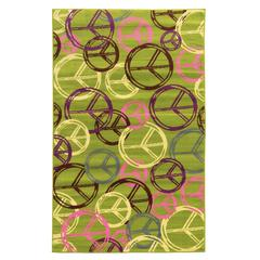 "Linon Tween Collection Peace Green 4'4"" X 6'"