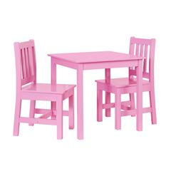 Jaydn Pink Kid Table and Two Chairs