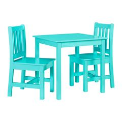Jaydn Teal Kid Table and Two Chairs