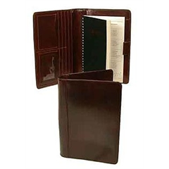 "Hand Stained Italian Leather Desk agenda 9""x6"""