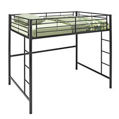 Walker Edison Black Metal Full Loft Bed