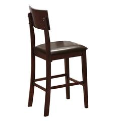 5-Piece Espresso Wood Pub Dining Set